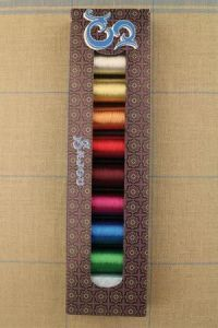 Sajou box eight spools Fil Au Chinois metallic threads