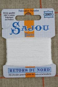 Sajou embroidery thread Retors du Nord n° 2003 Pure White