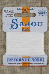 Sajou embroidery thread Retors du Nord n° 2004 Off White