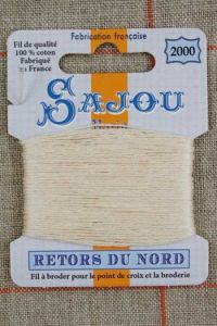 Sajou embroidery thread Retors du Nord n° 2000 Un-dyed