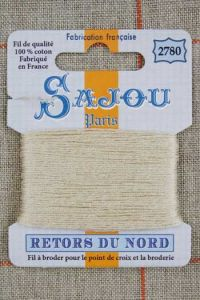 Sajou embroidery thread Retors du Nord n° 2780 Ecru