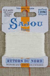 Sajou embroidery thread Retors du Nord colour 2196 Ivory