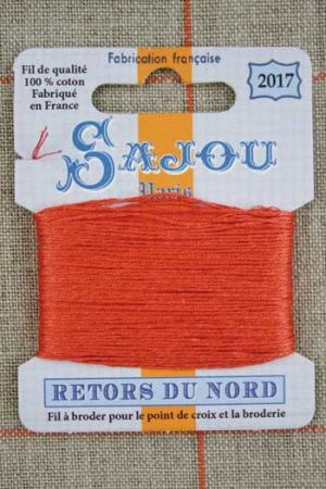 Sajou embroidery thread Retors du Nord colour 2017 Coral