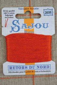Sajou embroidery thread Retors du Nord n°2035 Burnt orange