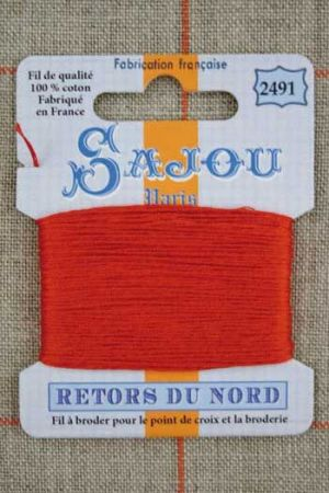 Sajou embroidery thread Retors du Nord colour 2491 Brick
