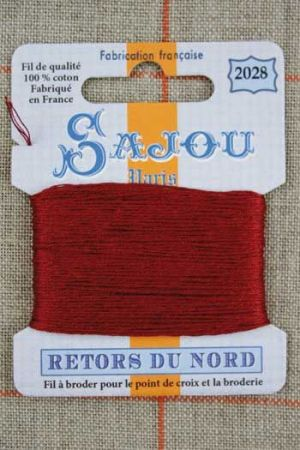 Sajou embroidery thread Retors du Nord colour 2028 Rust