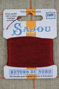 Sajou embroidery thread Retors du Nord n°2409 Bordeaux