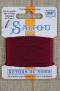 Sajou embroidery thread Retors du Nord n°2027 Burgundy