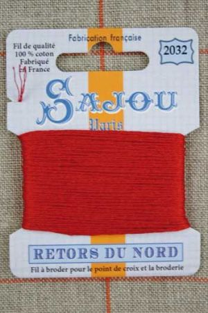 Sajou embroidery thread Retors du Nord colour 2032 Andrinople