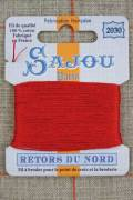 Sajou embroidery thread Retors du Nord n°2030 Red