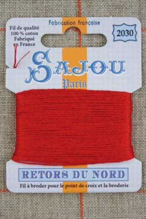 Sajou embroidery thread Retors du Nord colour 2030 Red