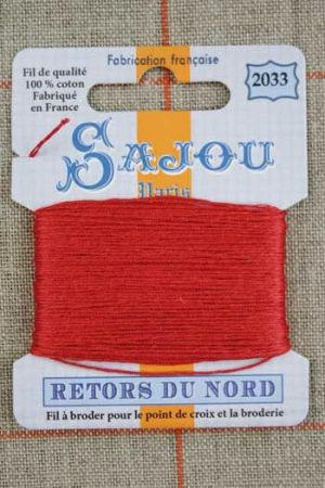 Sajou embroidery thread Retors du Nord colour 2033 Gladiola