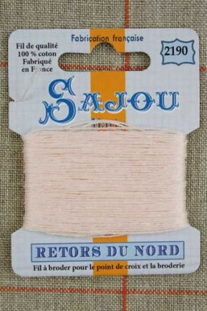 Sajou embroidery thread Retors du Nord colour 2190 Candyfloss