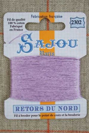 Sajou embroidery thread Retors du Nord colour 2302 Mauve
