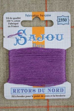 Sajou embroidery thread Retors du Nord colour 2350 Purple