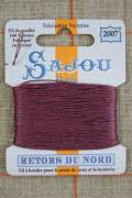 Sajou embroidery thread Retors du Nord n°2007 Blackcurrant