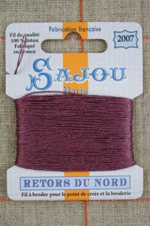 Sajou embroidery thread Retors du Nord colour 2007 Blackcurrant