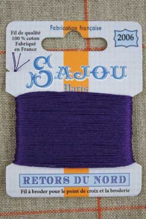 Sajou embroidery thread Retors du Nord colour 2006 Violet
