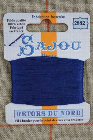 Sajou embroidery thread Retors du Nord colour 2882 Sapphire