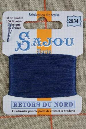 Fil à broder Retors du Nord Sajou carte 20 m - n°2834 Tempête