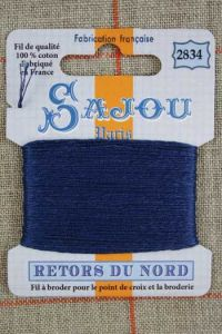 Sajou embroidery thread Retors du Nord n°2834 Storm