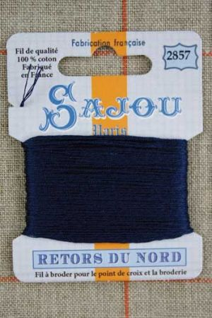 Sajou embroidery thread Retors du Nord colour 2857 Admiral