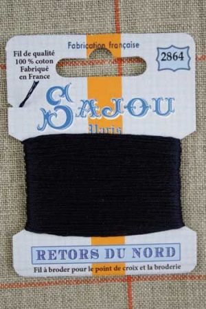Sajou embroidery thread Retors du Nord colour 2864 Navy