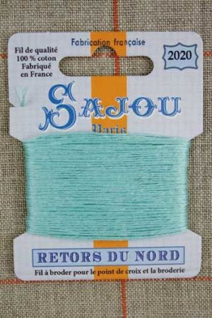 Sajou embroidery thread Retors du Nord colour 2020 Water