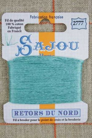 Sajou embroidery thread Retors du Nord colour 2777 Emerald