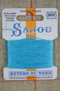 Sajou embroidery thread Retors du Nord n°2010 Azure