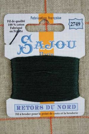 Sajou embroidery thread Retors du Nord colour 2749 Pine