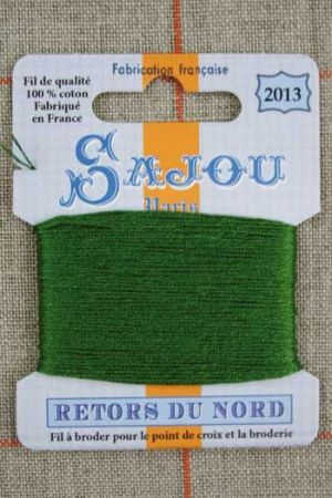 Sajou embroidery thread Retors du Nord colour 2013 Fern