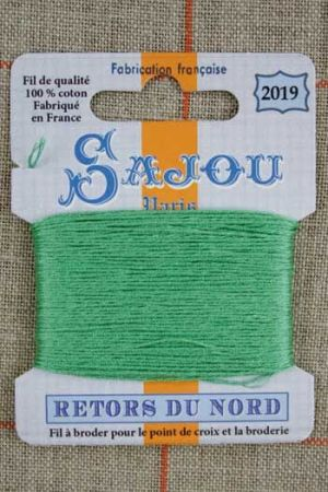 Sajou embroidery thread Retors du Nord colour 2019 Spring