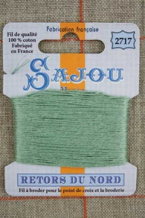 Sajou embroidery thread Retors du Nord colour 2717 Jade