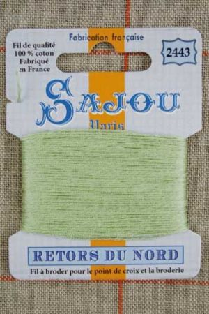 Sajou embroidery thread Retors du Nord colour 2443 Pastel Green