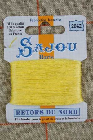 Sajou embroidery thread Retors du Nord colour 2042 Sulphur