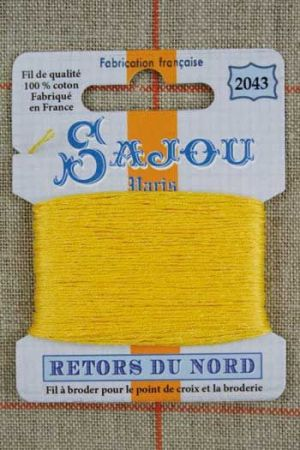 Sajou embroidery thread Retors du Nord colour 2043 Orpiment