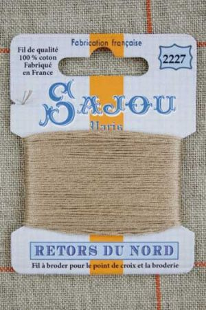 Sajou embroidery thread Retors du Nord colour 2227 Sand