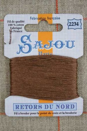 Sajou embroidery thread Retors du Nord colour 2234 Chamois
