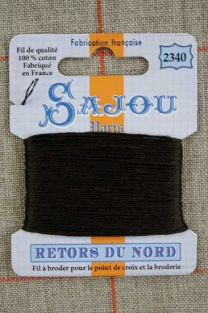 Sajou embroidery thread Retors du Nord colour 2340 Chocolate