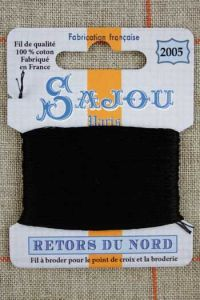 Sajou embroidery thread Retors du Nord n°2005 Black