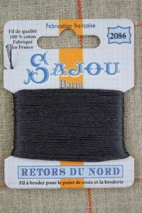 Sajou embroidery thread Retors du Nord n°2086 Coal