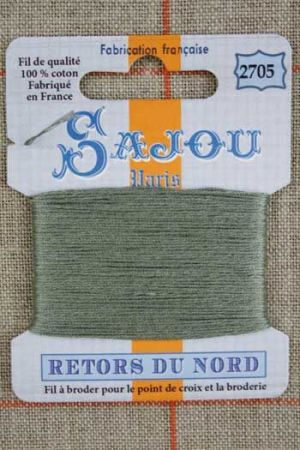 Sajou embroidery thread Retors du Nord colour 2705 Shetland