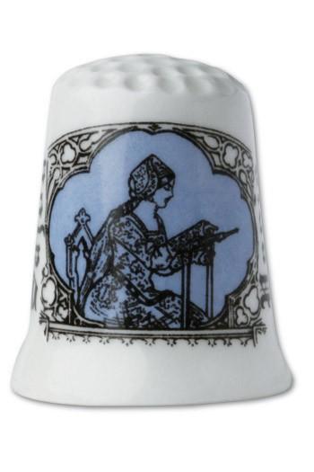 Dé porcelaine Modèle Reims - bleu