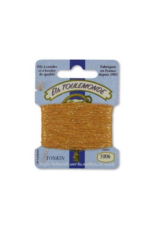 Tonkin embroidery thread polyester / gold lurex strand 1006 Sand
