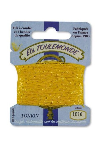 Tonkin embroidery thread polyester / gold lurex strand 1016 Yellow