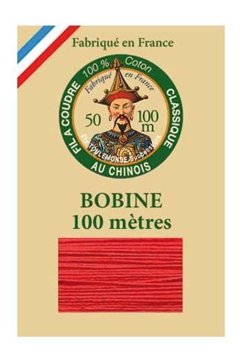 Fil Au Chinois cotton sewing thread - 100m spool 6532 - Red