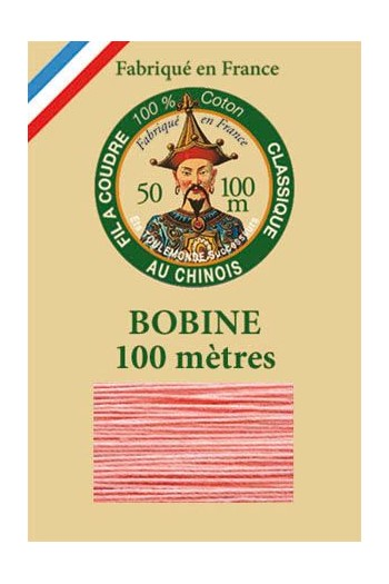 Fil Au Chinois cotton sewing thread - 100m spool 6562 - Coral