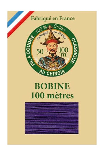 Fil Au Chinois cotton sewing thread - 100m spool 6631 - Violet