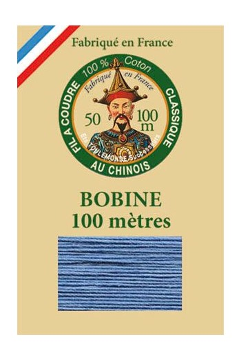 Fil Au Chinois cotton sewing thread - 100m spool 6774 - Blue
